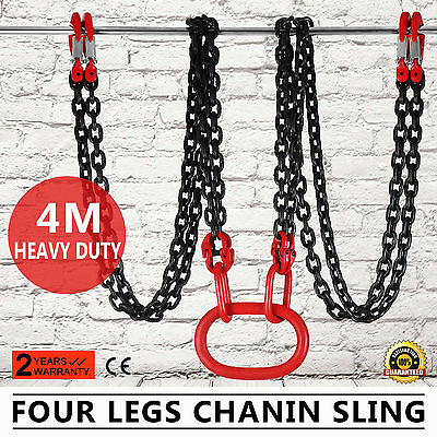13 Foot  Lifting Chain Sling Four Leg Hook Chains Alloy Steel Grade 80 Great