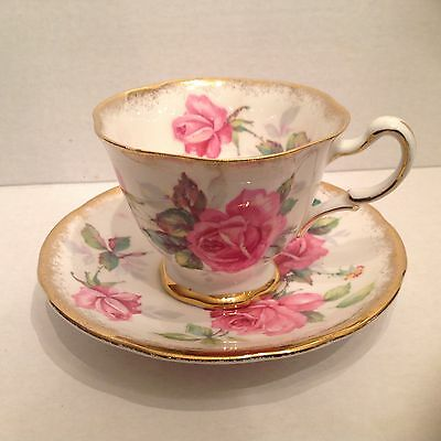 Royal Stafford Berkeley Rose Cup and Saucer made in England