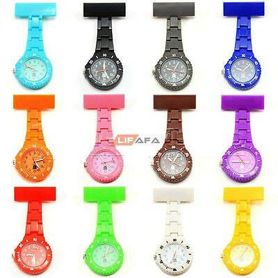 NEW Multi COLORS Fashion MATCH FACE FOB NURSE DOCTOR BROOCH GIFT WATCH