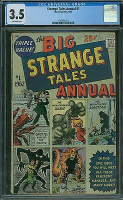 Strange Tales Annual 1 CGC 3.5 - OW Pages