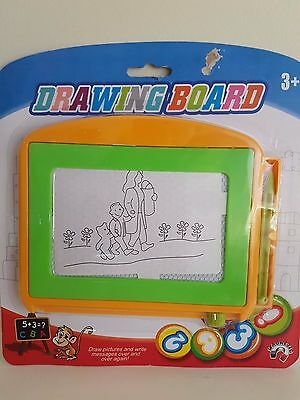 Drawing Board Kids Game Toy Draw Pictures Numbers Magnetic Fun Learn Grow
