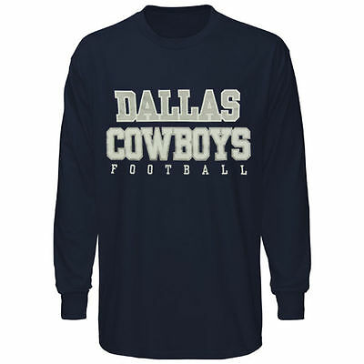 Dallas Cowboys Practice Long Sleeve Navy T-Shirt