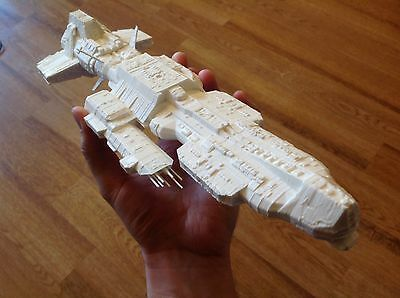 Stargate Atlantis Ancient Aurora-class battleship. Unpainted. Assembled.