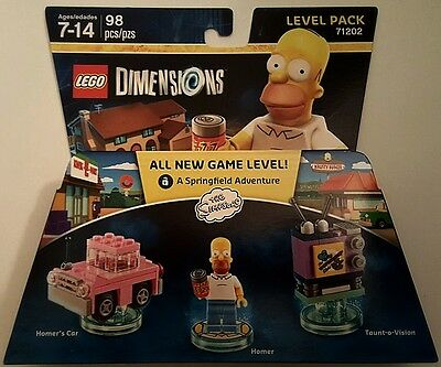 New Lego Dimensions Level Pack Homer Simpson & Car 71202 Free Worldwide Shipping