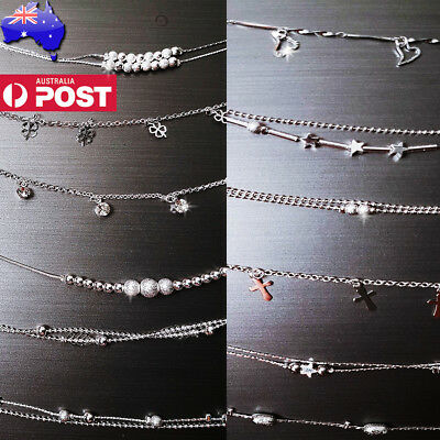 Silver 925 S925 Chain Anklet Ankle Bracelet Foot Beach Feet Jewelry buy3get4