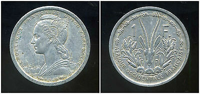 FRENCH WEST AFRICA - AFRIQUE OCCIDENTALE FRANCAISE 1 franc 1948 ( ca )