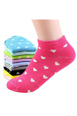 5 Pairs Womens Girls Ankle Low Cut Socks Casual - Random Color M3S0