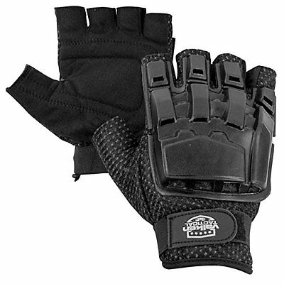 Airsoft tactical gloves, hunting military motorcycle half finger shooting, Black