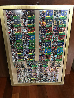 Rare Complete Set of 2006 NRL Tazos - Mint Condition - SILVER RARE FRAMED