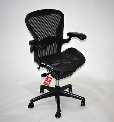 Herman Miller Aeron chair size B Re Furbished with New Seat and Backs