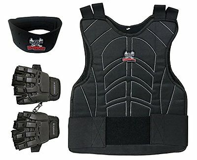 Paintball Chest Protector Combo Maddog Padded Package - Black - Large / X-Large