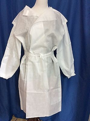 Unbrended (56)Total  Disposable White  Isolation Gowns Smocks