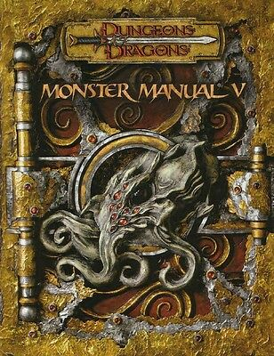 ★ MONSTER MANUAL 5 V D&D 3.5 INGLESE Dungeons & Dragons MANUALE DEI MOSTRI ★