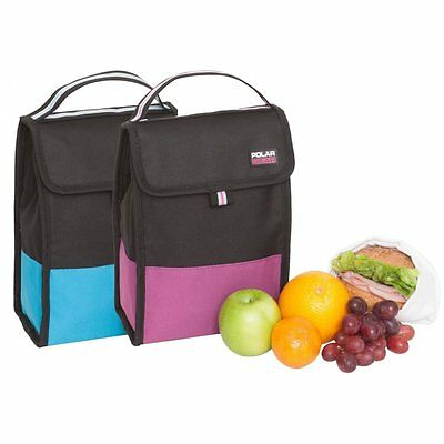 Polar Gear Active Folding Lunch Cooler - Raspberry Turquoise Lunchbag - NEW GIFT