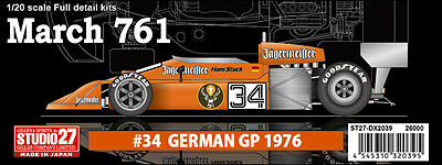 Studio27 DX2039 1:20 March 761 #34 GP of Germany Deluxe Kit