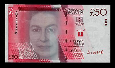 Gibraltar  50 Pounds  2010  Pick # 38  Unc Banknote.