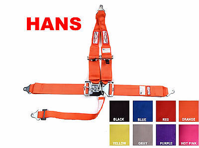 """Hans Racing Harness Sfi 16.1  5 Point V Roll Bar Mount 3"""" Latch & Link Any Color"""