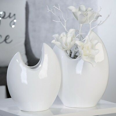 "H 14,5 cm ø 9,5 cm Porzellan glasiert dio Only for You 59801 /""Wave/"" Vase we"