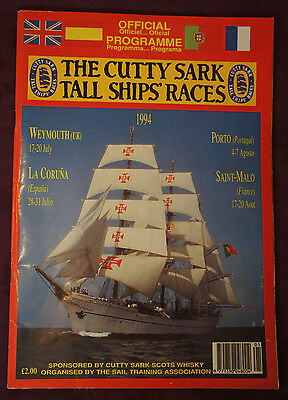 THE CUTTY SARK TALL SHIPS' RACES - 1994 Official Programme