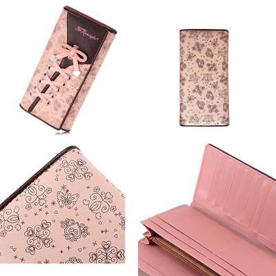 Pink Tie Women's Wallet Leather Long Purse Clutch Card Holder Organizer NEW