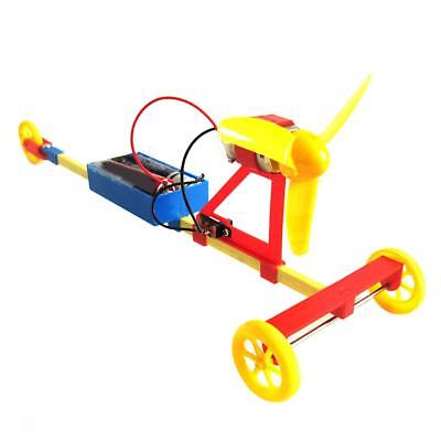 Electric Air Powered Car DIY Assembly Model Toy Kid Experiment Supply Accs