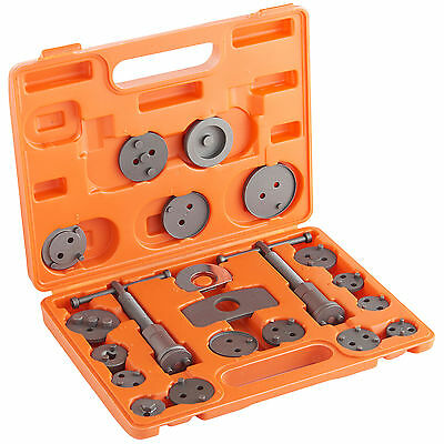 VonHaus 22pc Car Brake Caliper Piston Rewind Repair Kit Wind Back Tool Set