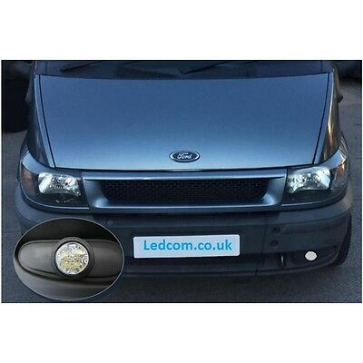 Ford Transit Mk6 2000-2006 - Daytime Running Lights Circular DRL LED
