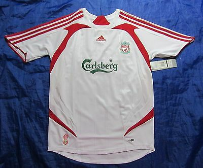 NEW TAGS The Reds FC LIVERPOOL away shirt  jersey ADIDAS 2007-2008 adult SIZE S