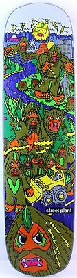 STREET PLANT Bigfoot Barnyard Purple Skateboard Deck