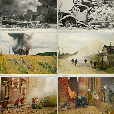 Wehrmacht German WW2 Combat book w/100 b&w and Color Photos France Poland Norway