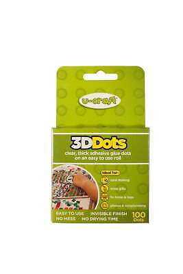 12 x 100 U-Craft 3D Thick Glue Adhesive Dots Permanent Double Sided 201064