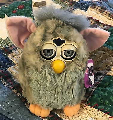 ✨ FURBY Original 1998 model 70-800 Tiger Electronics Used with tags GRAY