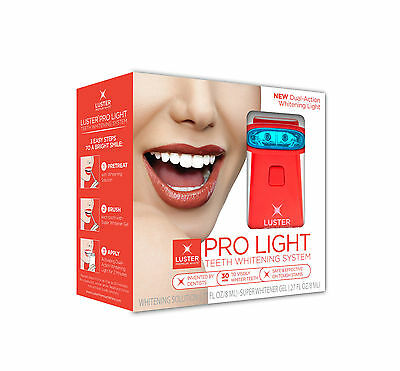 Luster Pro Light Teeth Whitening System With Dual-Action Whitening Light