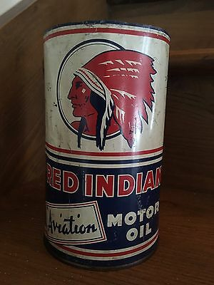 Vintage Oil Can Red Indian One Imperial Quarts Canada