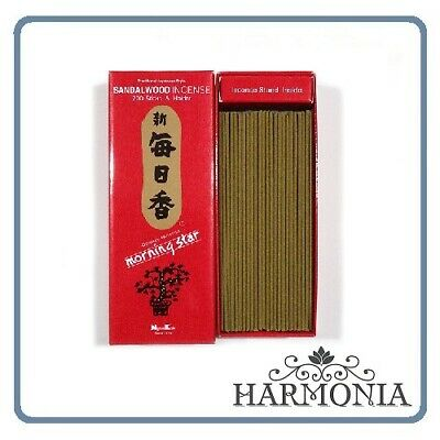 MORNING STAR SANDALWOOD 200 Sticks Box with Holder Nippon Kodo Japanese Incense