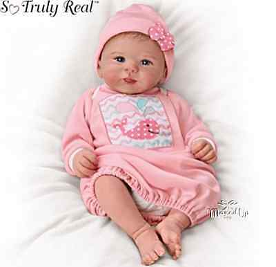 Baby Doll By Ashton Drake Little Squirt Weighted Poseable  Rooted Hair