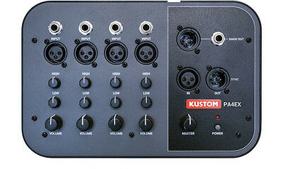 Kustom PA4EX 4-Channel Mic / Line Mixer with Mono Output NEW!!