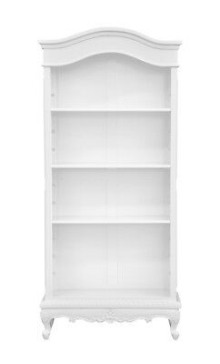 French Louis XV Mahogany - 3 Shelf bookcase painted in White