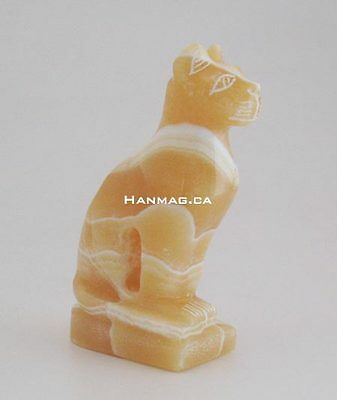 Egyptian Alabaster Semi Precious Stone Cat Bastet #1162