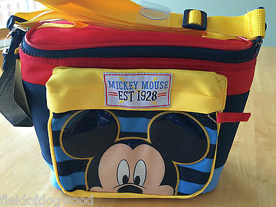 NWT DISNEY Store MICKEY MOUSE LUNCH BOX Tote INSULATED School