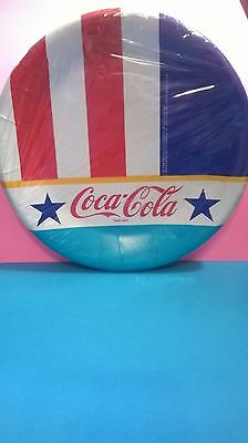 Coca Cola Party Plates 1988 7 Inch. 12 count Coke Plates Vintage Stars Stripes