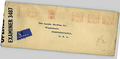 Uk Gb 1941 Censored Cover To The Usa
