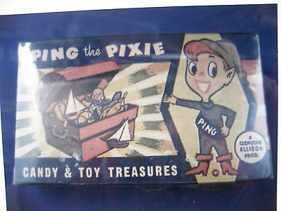 "SCARCE ""Ping The Pixie Candy & Toy Box"" / Circa 1940-50's"