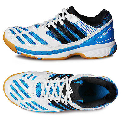 Mens/Boys Adidas BT Feather Trainers (White/Solar Blue) UK 6 ***BRAND NEW***