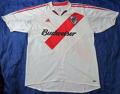 Club Atlético RIVER PLATE home shirt jersey ADIDAS 2004 -2005 Argentina adult XL