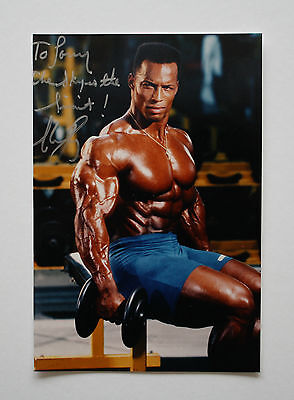 """Shawn Ray """"arnold Classic"""" Bodybuilding Champion Signed Inscription To Larry"""