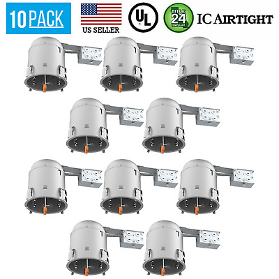 """6"""" Inch Remodel LED Recessed Can Lighting, IC Rated Airtight Housing, 12 Pack"""