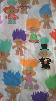 Treasure Trolls Flat Sheet Twin Bed Sheet Treasure Trolls Crafting Vintage Troll