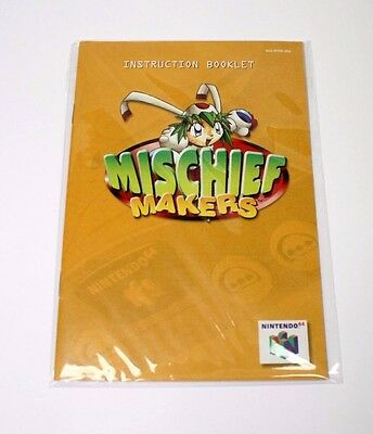 Mischief Makers Manual Nintendo 64 N64 Very Good Condition