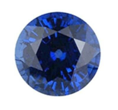 Natural Dark Blue Sapphire Round Cut 2mm Gem Gemstone